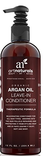 Art Naturals® Argan Oil Leave in Conditioner / Moisturizer 12 oz | Best Treatment for Dry, Damaged & Colored Hair | Deep Conditioning Repair Cream Leaving Hair Sleek & Shiny For All Hair Types