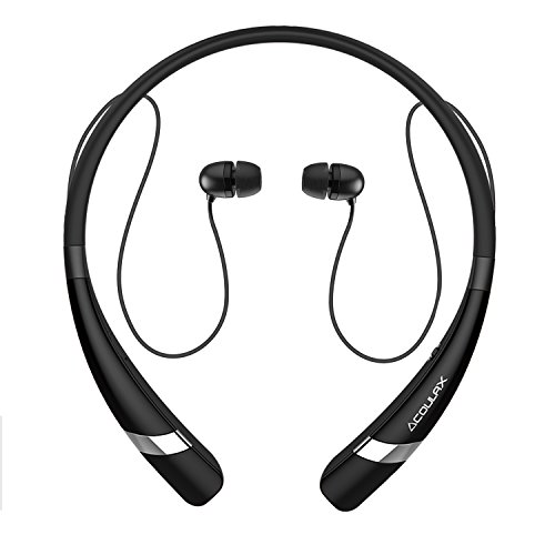 bluetooth headphones coulax cx04 bluetooth v4 1 wireless neckband headset in. Black Bedroom Furniture Sets. Home Design Ideas