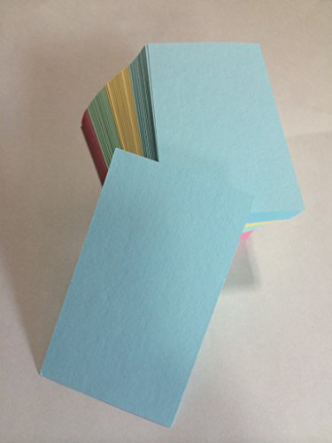 160 Blank Cards Flash Cards (4 Colors) - Size of card 3.6 x 2.2 (91mm x 55mm)