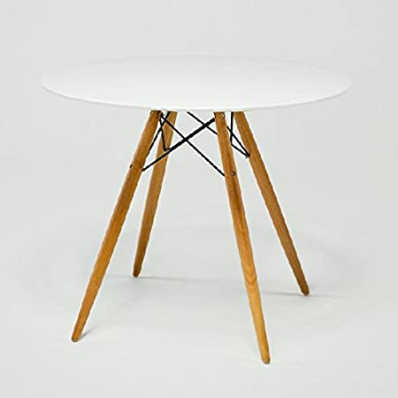 Dining Table 90Wood/Glass Fibre White–Exclusive