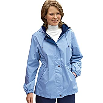 Womens rain jacket with zip out lining