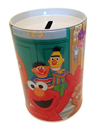 The tin box company Sesame Street Elmo Coin Bank, Big Bird and Friends