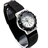 Terrain Boys White Boardrider Sports Surf Watch, Velcro Strap, Rotating Bezel, 50m Water Resitant 968L