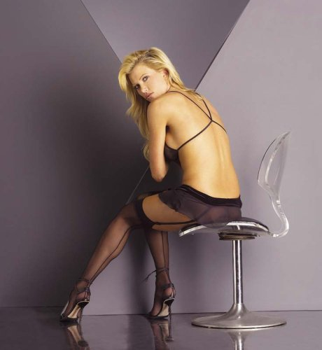 Women's Sheer Thigh High Stockings With Seams