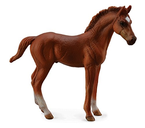 Collect A Horses Thoroughbred Standing Chestnut Foal Toy Figure
