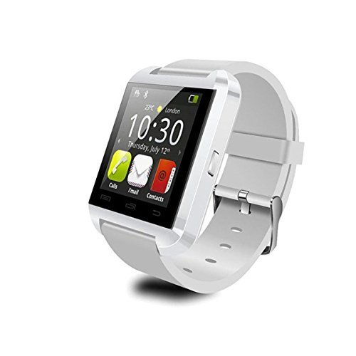 JideTech® U8 Bluetooth SmartWatch WristWatch Phone with Touch Screen for IOS Iphone Android Samsung Smartphone (White)