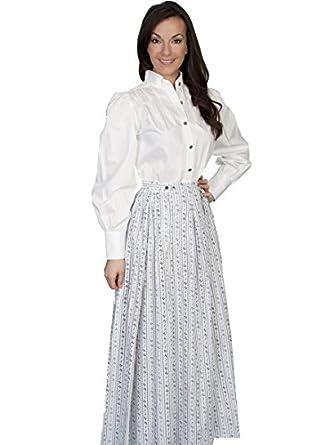 Rangewear By Scully Womens Rangewear Floral Print Skirt $55.00 AT vintagedancer.com