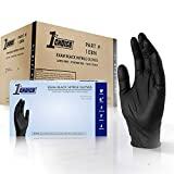 1st Choice Black Nitrile 4 Mil Thick Disposable Gloves Large Case of 1000   Exam Medical Latex Free Black Large (Color: Black, Tamaño: Large)