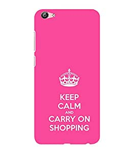 ifasho Nice Quote On Keep Calm Back Case Cover for VIVO X7