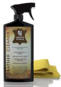 Leather Cleaner For Sofa, Shoes, Car, Handbags, Purses, Furniture, Saddles & More - 18 oz - Comes With Microfiber Towel