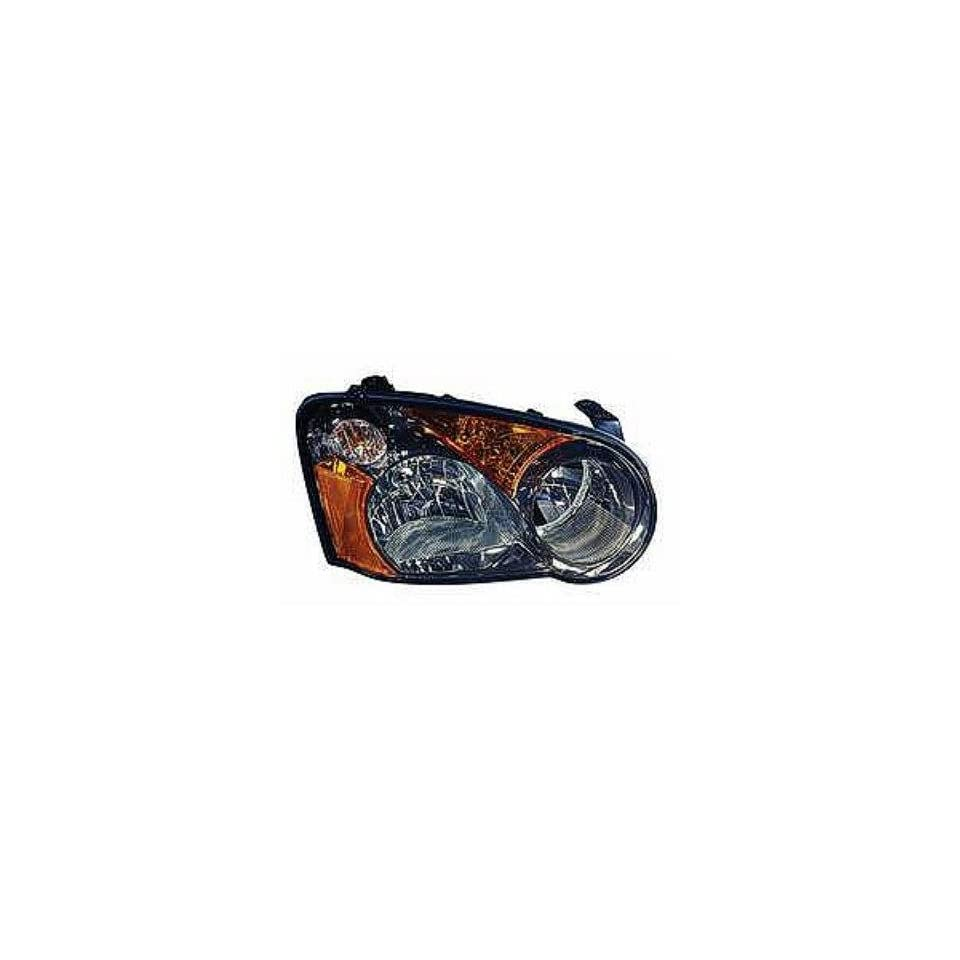 PASSENGER SIDE HEADLIGHT Subaru Impreza HEAD LIGHT ASSEMBLY; WITHOUT HID; BLACK