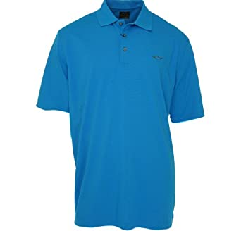 Greg Norman Solid Polo Shirt Blue Paradise S