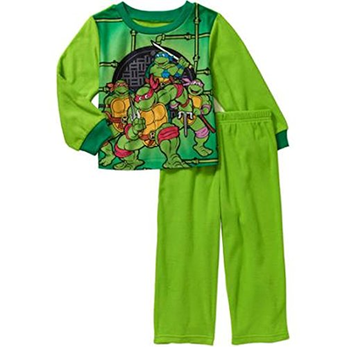 Teenage Mutant Ninja Turtles Little Boys & Baby Fleece 2 Piece Pajama Sleepwear Set (24 Months)