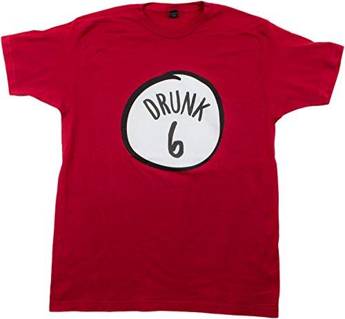 Drunk 6 | Funny Drinking Team, Group Halloween Costume Unisex T-shirt-Adult, S (Drunk 1 Costume Tshirt)