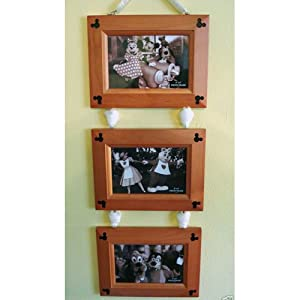 Mickey Mouse 3 Wood 4x6 Frame Charm