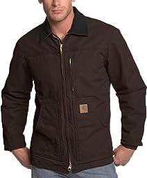Carhartt Men\'s Ridge Coat Sherpa Lined Sandstone,Dark Brown,Medium