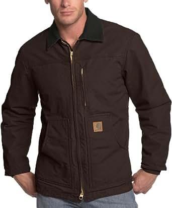 Carhartt Men's  Ridge Coat Sherpa Lined Sandstone,Dark Brown,Small