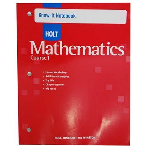 Know-It Notebook Holt Mathematics Course 1 2007