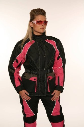 MOTORCYCLE Size M JAZZ Pink/Black CORDURA WATERPROOF