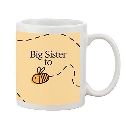 Big Sister to be Tasse New Baby Dusche Neuheit Geschenk Steingut 284ml Kaffee Tee Tasse Bumble Bee Design