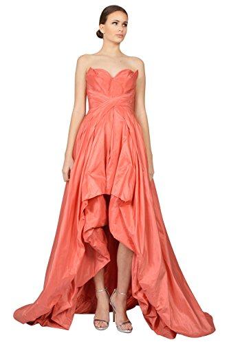 Oscar De La Renta Taffeta Strapless Sweetheart Formal Evening Gown Dress