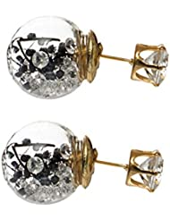 Eternz Studs Earrings For Women (Black) (EZEA119)