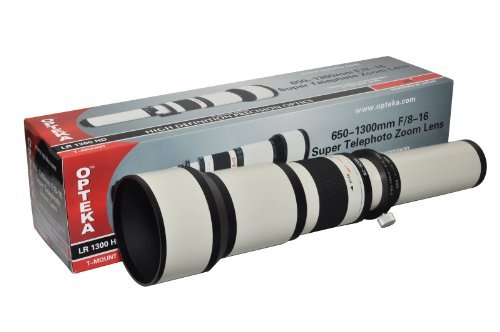 Opteka 650-1300mm High Definition Telephoto Zoom Lens For Sony Alpha A900, A850, A700, A100, A200, A300, A350, A230, A330, A380, A450, A500, A550, A290, A390, A560, A580, A77, A65, A57, A55, A37 And A33 Digital Slr Cameras