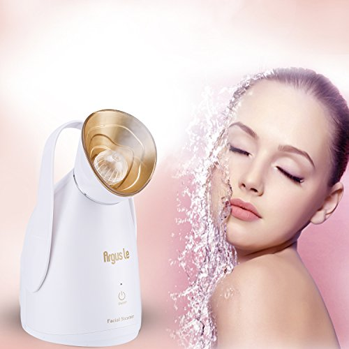 Argus Le Professional Spa Home Nano Ionic Facial Steamer Machine with Touch Button-Special Pollen Spa Box- Skin Care Facial Atomizer Facial Hydration Sauna System for Facial Treatment-White Gold (Steamer Oil compare prices)