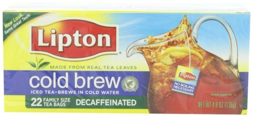 Lipton Decaffeinated Cold Brew, Family Size Tea Bags, 22Count (Pack Of 3), Garden, Lawn, Maintenance