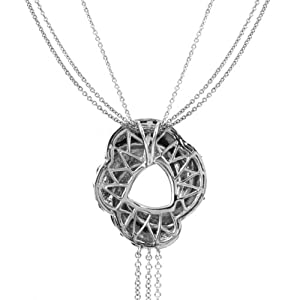 0.05 Ct Round Cut Simulated Diamond letterC In Circle pendant With 18 Chain 14K Yellow Gold Plated