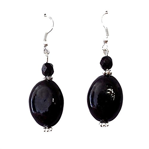 Beadworks Beadworks Beaded Earrings - Black Colour Beaded Casual Earrings (Multicolor)