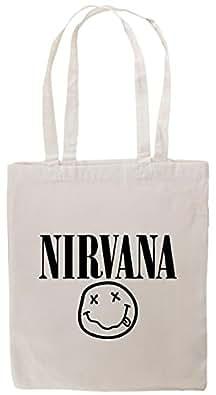 EZtshirts Nirvana Face Logo Kurt Cobain T-Shirt Tote Bag