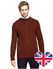 Best of British Pure Wool Crew Neck Jumper