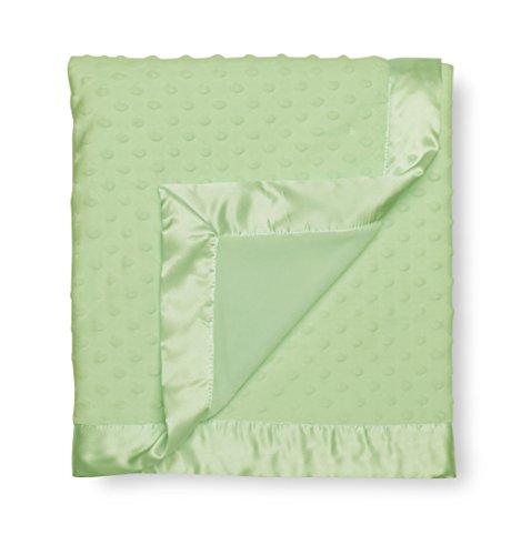 GUND Babygund Reversible Multi-texture Dot Blanket, Pistachio, 30'' By 40'' - 1