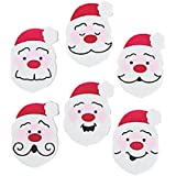 "144 (1 Gross) ~ Christmas Santa Face Mini Erasers ~ Approx. 1 1/8"" X 3/4"" X 3/16"" ~ New ~ Holiday St"