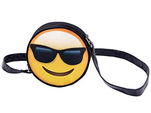 Borsa rotonda a tracolla con motivi divertenti. Borsetta con chiusura zip. Moderno lyfestyle trend zaino donne design, Tasche HT-01-36:HT-003 Emoticon fico