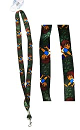 Diego The Rescuer 2pc Lanyards - Diego Lanyards - Green