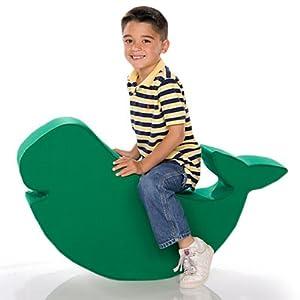 Whale Foam Shape Bean Bag Upholstery: Twill Green