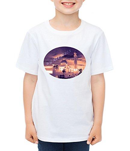 My Religion Kids Boys CLASSIC-T Crew neck T-Shirt Bianco Small