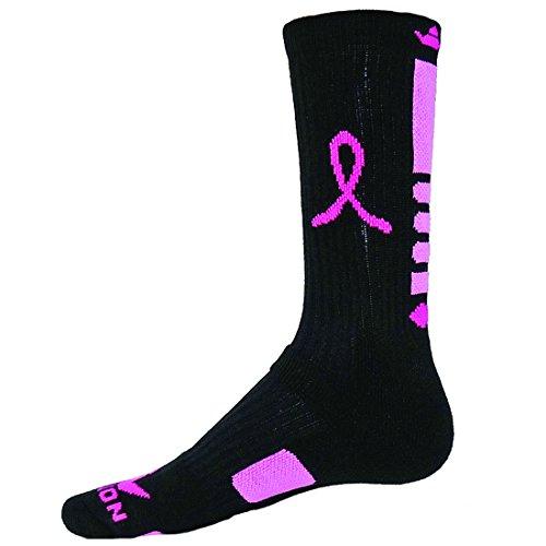 Red Lion Ribbon Legend 2.0 Breast Cancer Socks ( Black / Pale Pink - Medium )