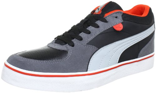 Puma Skate Vulc Low Top Mens Black Schwarz (black-high-rise-steel gray 04) Size: 10.5 (44.5 EU)
