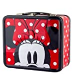 Disney Minnie Mouse Red and White Polka Dot Lunch Tin Box