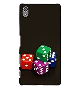 Colourful Dice 3D Hard Polycarbonate Designer Back Case Cover for Sony Xperia Z5 Premium (5.5 Inches) :: Sony Xperia Z5 Premium Dual
