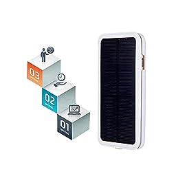 iphone 6s plus Solar Battery Case,Rasse® 4200mAh Portable Solar Power Bank Backup External Battery Charger Case For iPhone 6 Plus /iphone 6s plus 5.5 inch(6 Plus Solar White)