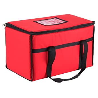 "San Jamar FC2212-MRN Insulated Food/Pizza Carrier, Large, 12"" Width x 22"" Height x 12"" Depth"