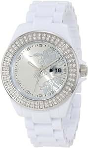 Ed Hardy Women's JO-RS Jolie White Watch