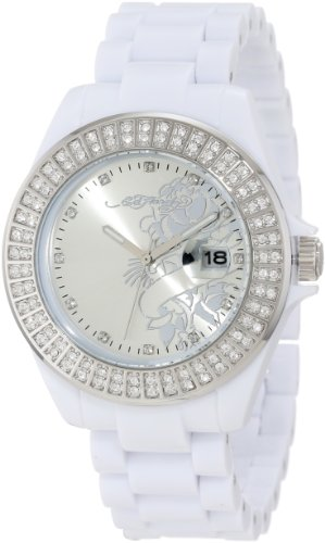 Ed Hardy Women's JO-RS Jolie White Watch