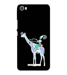 EPICCASE girl riding giraffe Mobile Back Case Cover For Lava Iris X8 (Designer Case)
