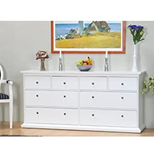 sideboard paris kommode anrichte schrank highboard wei 8 schubladen garten. Black Bedroom Furniture Sets. Home Design Ideas