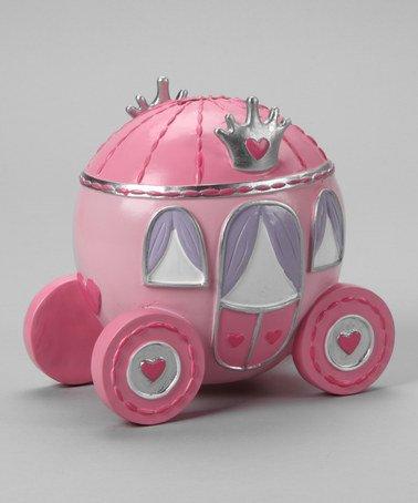 Baby Essential Novelty Bank Pink Cinderella Wagon